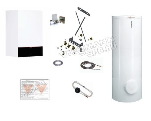 Пакетное предложение Viessmann: котел Vitodens 200-W B2HF 25 кВт + бойлер Vitocell 100-W CVAA 300 л | Z021564