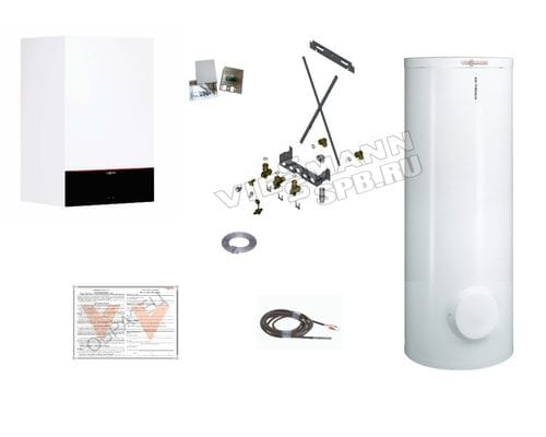 Пакетное предложение Viessmann: котел Vitodens 200-W B2HF 25 кВт + бойлер Vitocell 300-W EVIA-A 300 л | Z021568