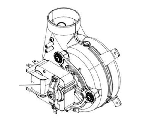 Вентилятор Vitopend 100-W A1JB / A1HB 30-34 кВт
