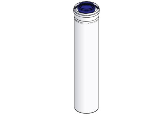 Коаксиальная труба D=60/100 - 0,5 метра