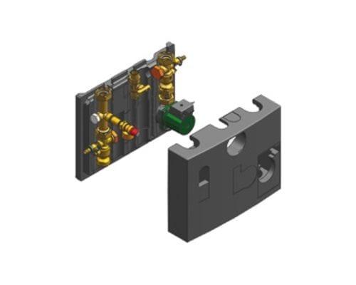 Комплект подключения отопительного контура с 3-х ступенчатым насосом 7247341