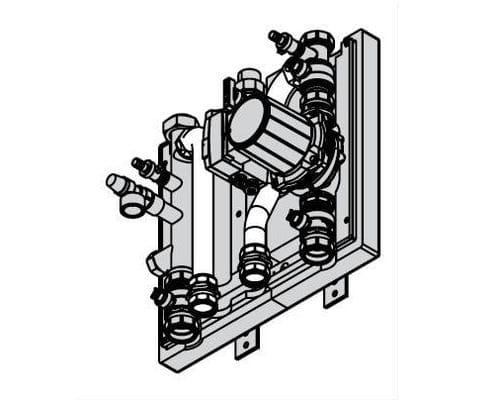 Комплект подключения емкостного водонагревателя 80-100 кВт 7348934
