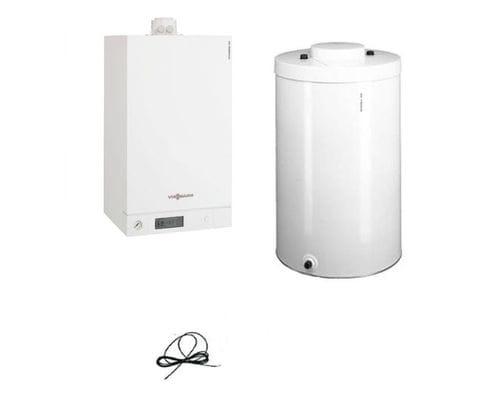 Пакет Viessmann: котел Vitodens 100-W 26 кВт + бойлер Vitocell 100-W CUG 100 литров B1HC490