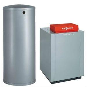 Пакет Viessmann: котел Vitogas 100-F 48 кВт с автоматикой Vitotronic 200 KO2B + бойлер Vitocell 100-W CVA 200 литров GS1DB55