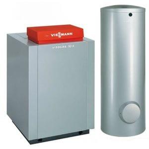Пакет Viessmann: котел Vitogas 100-F 35 кВт с автоматикой Vitotronic 100 KC4B + бивалентный бойлер Vitocell 100-W CVBB 300 литров GS1DB43