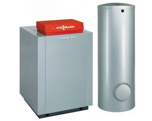 Пакет Viessmann: котел Vitogas 100-F 29 кВт с автоматикой Vitotronic 100 KC4B + бивалентный бойлер Vitocell 100-W CVBB 300 литров GS1DB42