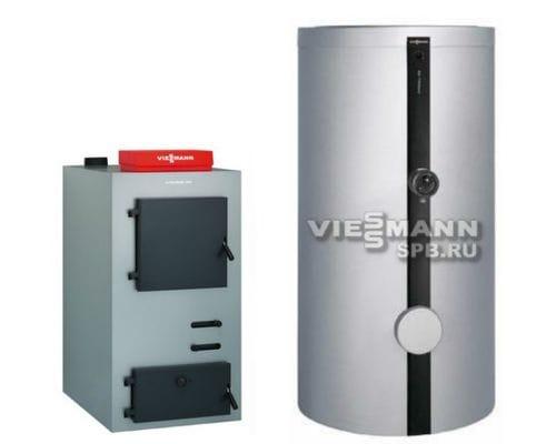 Пакет Viessmann: котел Vitoligno 100-S 23 кВт + буферная емкость Vitocell 100-E SVPA 950 литров V10A023
