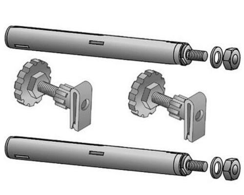Анкерный комплект (2 анкера, 2 рег. опоры) радиатора Viessmann