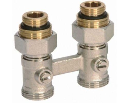 Комплект нижнего подключения радиатора Viessmann | прямой R ½ для двухтрубной системы