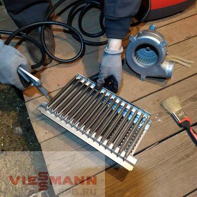 Очистка горелки и вентилятора котла